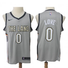 Camiseta Kevin Love #0 Cleveland Cavaliers 17/18 Gris City Edition