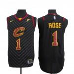 Camiseta Derrick Rose #1 Cleveland Cavaliers 17/18 Negro