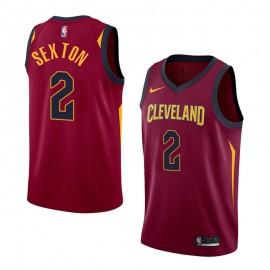 Camiseta Collin Sexton #2 Cleveland Cavaliers 17/18 Rojo