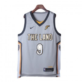 Camiseta Dwyane Wade #9 Cleveland Cavaliers 17/18 Gris City Edition