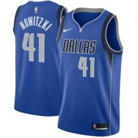 Camiseta Dirk Nowitzki #41 Dallas Mavericks 18/19 Azul Icon Edition