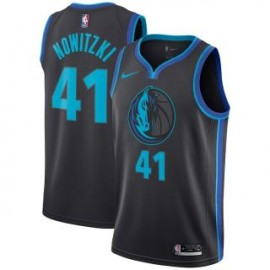 Camiseta Dirk Nowitzki #41 Dallas Mavericks 18/19 Negro City Edition