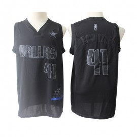 Camiseta Dirk Nowitzki #41 Dallas Mavericks 2019 Negro All Star