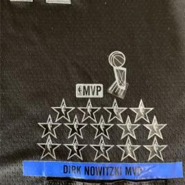 Camiseta Dirk Nowitzki #41 Dallas Mavericks 2019 Negro All Star