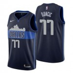 Camiseta Luka Doncic #77 Dallas Mavericks 18/19 Azul Marino Statement Edition