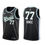 Camiseta Luka Doncic #77 Dallas Mavericks 18/19 Negro World