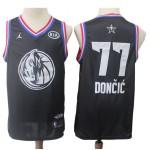 Camiseta Luka Doncic #77 Dallas Mavericks 2019 Negro All Star