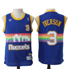 Camiseta Allen Iverson #3 Denver Nuggets 91/92 Azul Retro