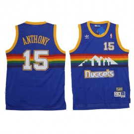 Camiseta Carmelo Anthony #15 Denver Nuggets 91/92 Azul Retro
