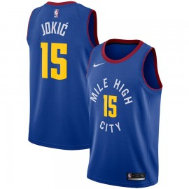 Camiseta Nikola Jokic #15 Denver Nuggets 18/19 Azul Statement Edition