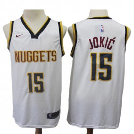 Camiseta Nikola Jokic #15 Denver Nuggets 18/19 Blanco Association Edition