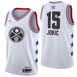 Camiseta Nikola Jokic #15 Denver Nuggets 2019 All Star Blanco