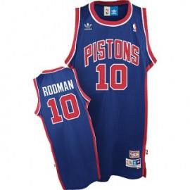 Camiseta Dennis Rodman #10 Detroit Pistons Azul Retro