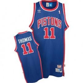 Camiseta Isiah Thomas #11 Detroit Pistons Azul Retro