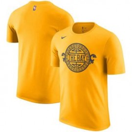 Camiseta Golden State Warriors amarillo Sleeve Edition