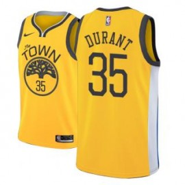 Camiseta Kevin Durant #35 Golden State Warriors 18/19 Amarillo Earned Edition