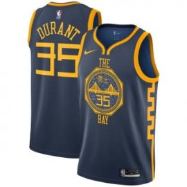 Camiseta Kevin Durant #35 Golden State Warriors 18/19 Azul Oscuro City Edition