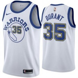 Camiseta Kevin Durant #35 Golden State Warriors 18/19 Blanco Classic Edition