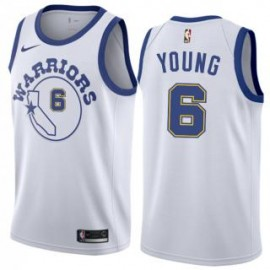 Camiseta Nick Young #6 Golden State Warriors 18/19 Blanco Classic Edition