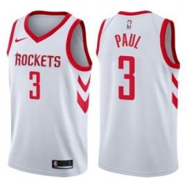 Camiseta Chris Paul #3 Houston Rockets 17/18 Blanco Association Edition