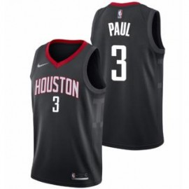 Camiseta Chris Paul #3 Houston Rockets 17/18 Negro Statement Edition