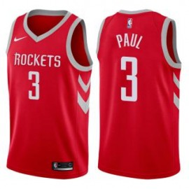 Camiseta Chris Paul #3 Houston Rockets 17/18 Rojo Icon Edition