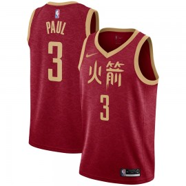 Camiseta Chris Paul #3 Houston Rockets 18/19 Rojo Chinese Edition