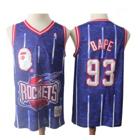 Camiseta #93 Houston Rockets Azul BAPE Edition