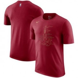 Camiseta Houston Rockets Rojo Sleeve Edition