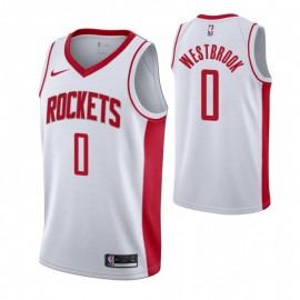 Camiseta Russell Westbrook #0 Houston Rockets 19/20 Blanco