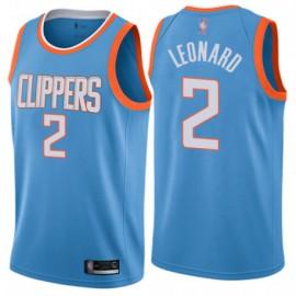 Camiseta Kawhi Leonard #2 Los Angeles Clippers 19/20 Azul City Edition