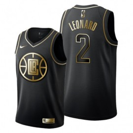 Camiseta Kawhi Leonard #2 Los Angeles Clippers 19/20 Negro Golden Edition