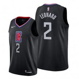 Camiseta Kawhi Leonard #2 Los Angeles Clippers 19/20 Negro Statement