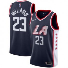 Camiseta Lou Williams #23 Los Angeles Clippers 18/19 Negro City Edition