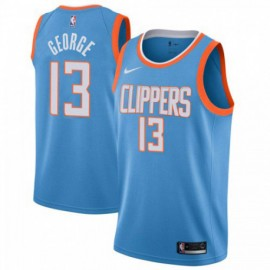 Camiseta Paul George #13 Los Angeles Clippers 19/20 Azul City Edition