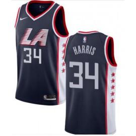 Camiseta Tobias Harris #34 Los Angeles Clippers 18/19 Azul Marino City Edition
