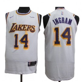 Camiseta Brandon Ingram #14 Los Angeles Lakers 18/19 Blanco Association Edition