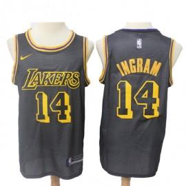 Camiseta Brandon Ingram #14 Los Angeles Lakers 18/19 Negro City Edition