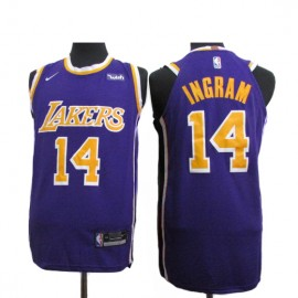 Camiseta Brandon Ingram #14 Los Angeles Lakers 18/19 Púrpura Statement Edition
