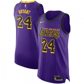 Camiseta Kobe Bryant #24 Los Angeles Lakers 18/19 Púrpura City Edition