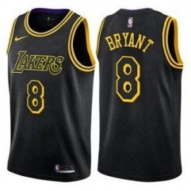 Camiseta Kobe Bryant #8 Los Angeles Lakers 18/19 Negro City Edition