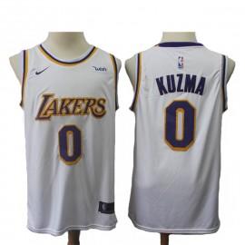 Camiseta Kyle Kuzma #0 Los Angeles Lakers 18/19 Blanco Association Edition