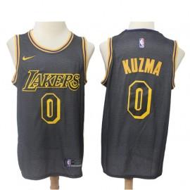 Camiseta Kyle Kuzma #0 Los Angeles Lakers 18/19 Negro City Edition