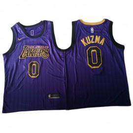 Camiseta Kyle Kuzma #0 Los Angeles Lakers 18/19 Púrpura City Edition