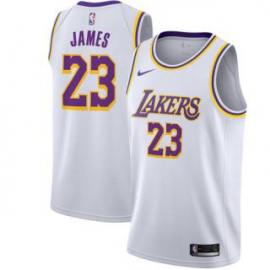 Camiseta LeBron James #23 Los Angeles Lakers 18/19 Blanco Association Edition