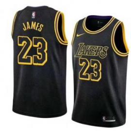Camiseta LeBron James #23 Los Angeles Lakers 18/19 Negro City Edition