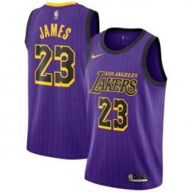 Camiseta LeBron James #23 Los Angeles Lakers 18/19 Púrpura City Edition