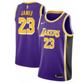 Camiseta LeBron James #23 Los Angeles Lakers 18/19 Púrpura Statement Edition
