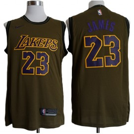 Camiseta LeBron James #23 Los Angeles Lakers 18/19 Verde City Edition