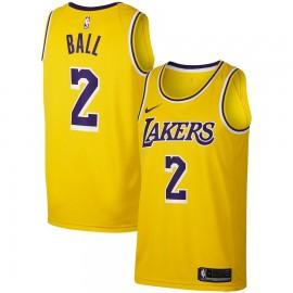 Camiseta Lonzo Ball #2 Los Angeles Lakers 18/19 Amarillo Icon Edition